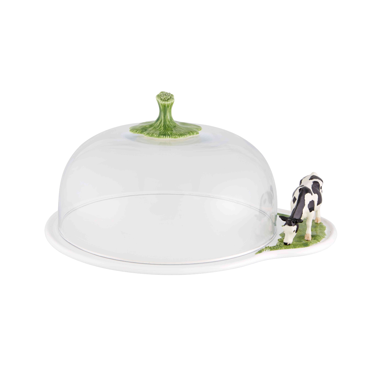 Bordallo Pinheiro White Meadow Earthenware Cheese Tray with Lid