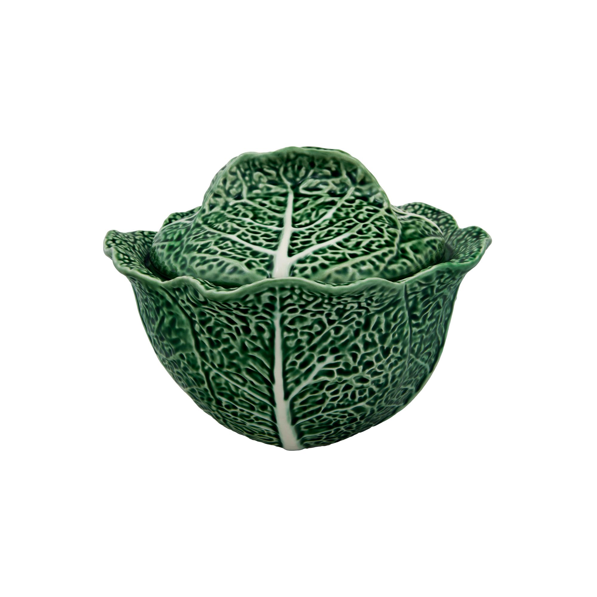 Bordallo Pinheiro Cabbage Earthenware 3 Liter Soup Tureen