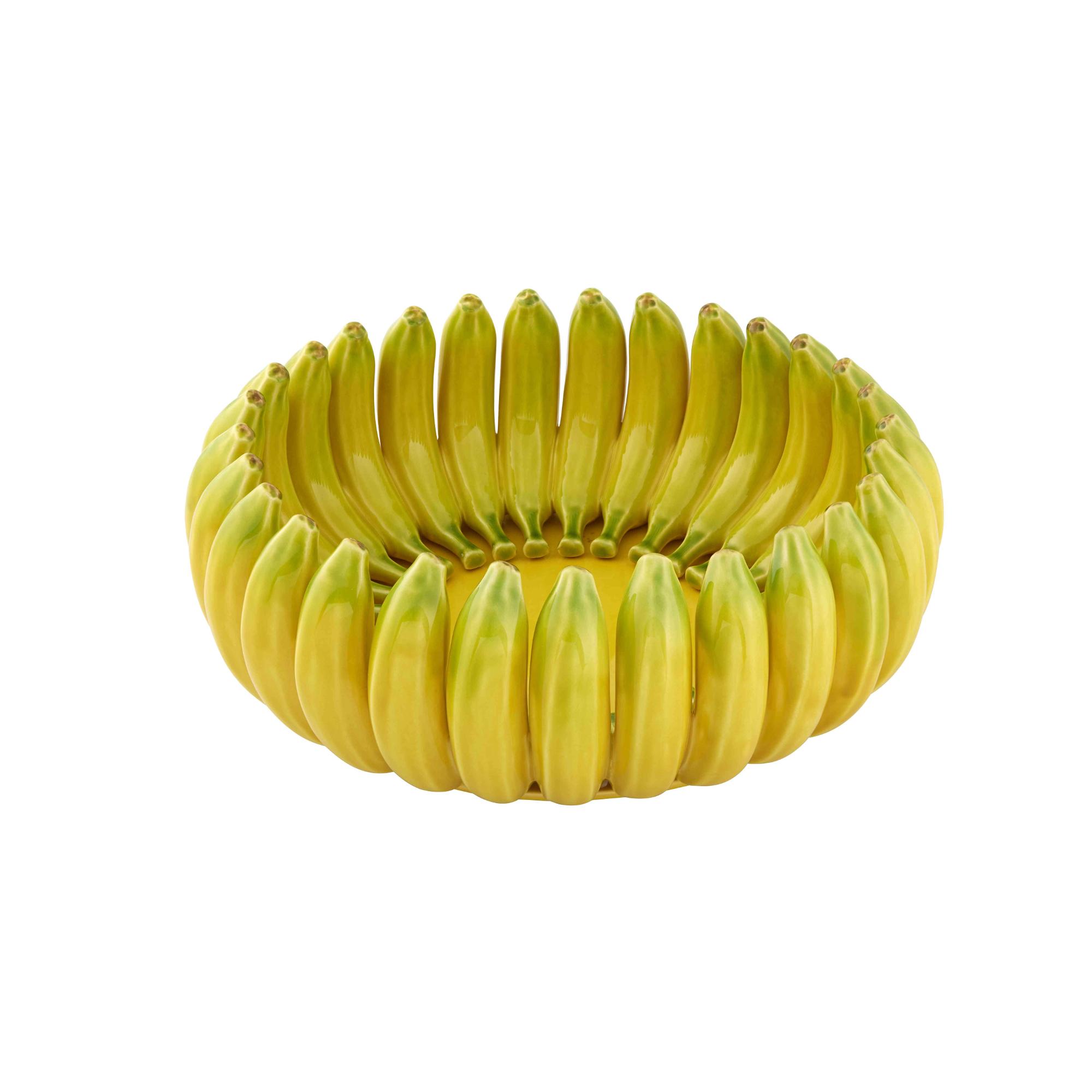 Bordallo Pinheiro Banana Decorated Centerpiece