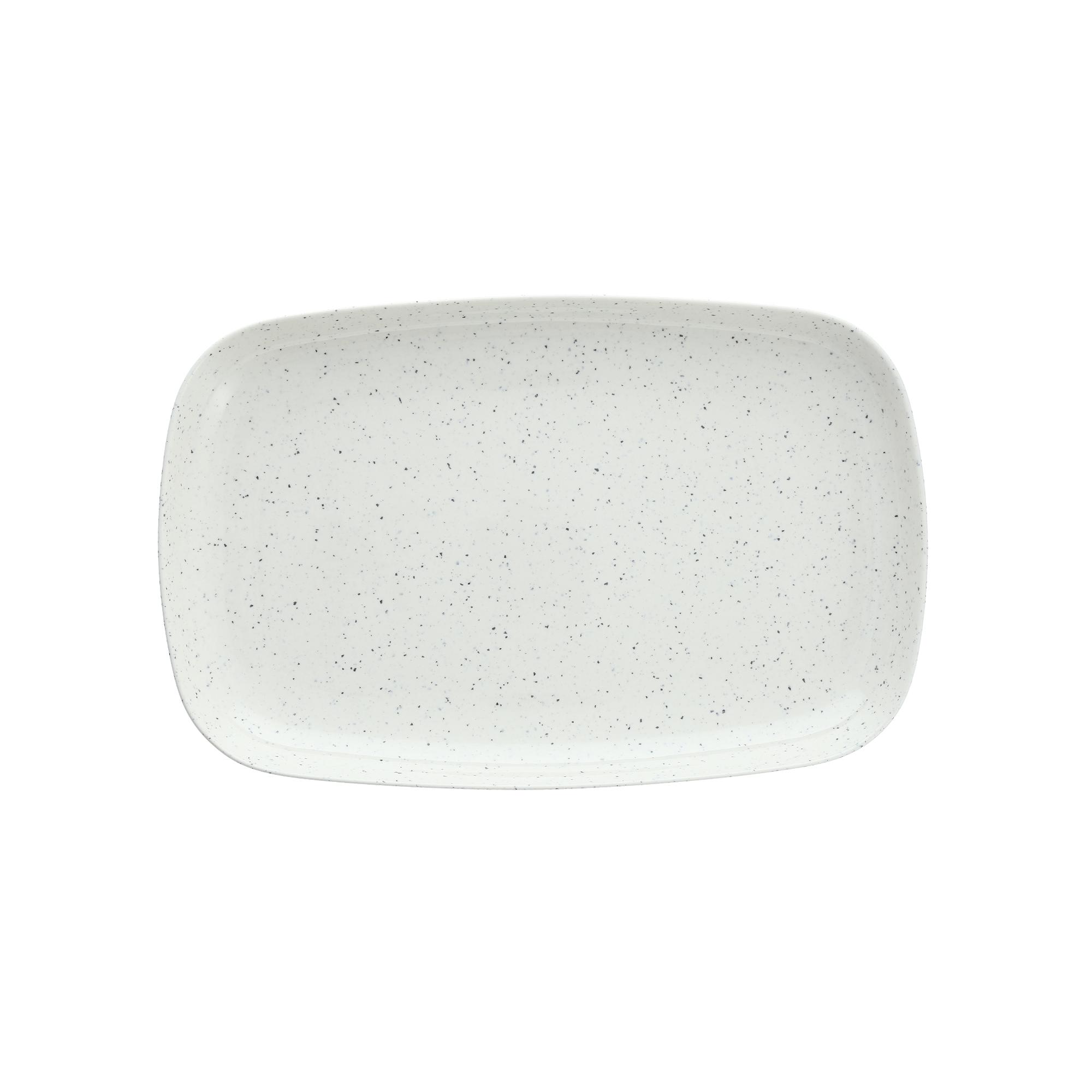 Fortessa Camp White Melamine Rectangular Coupe Platter, Set of 4