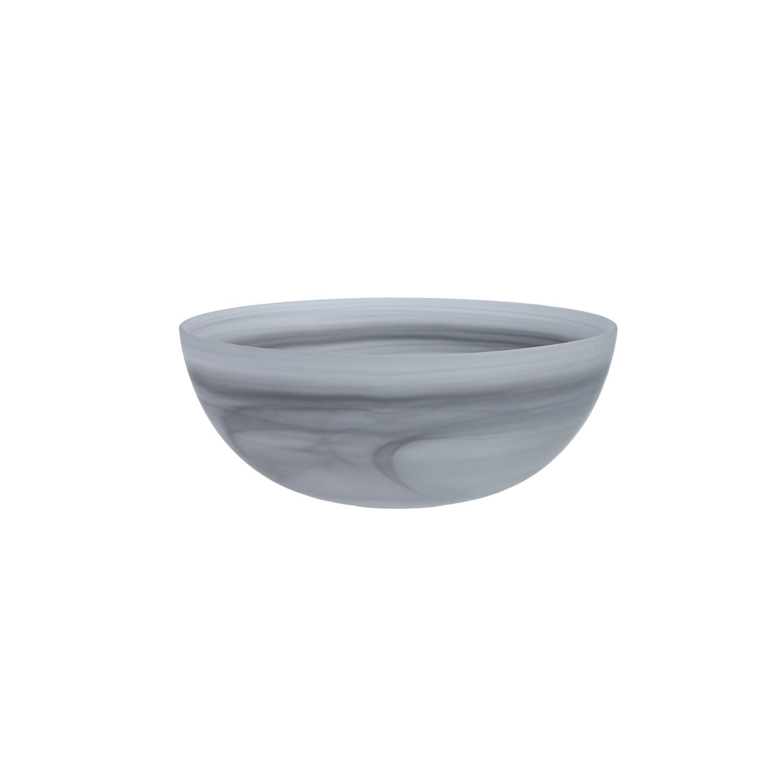 D&V La Jolla Grey Glass Serving Bowl