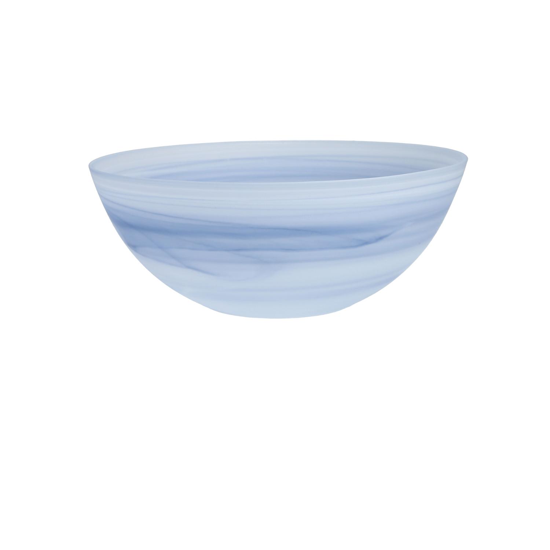 D&V La Jolla Ink Blue Glass Serving Bowl