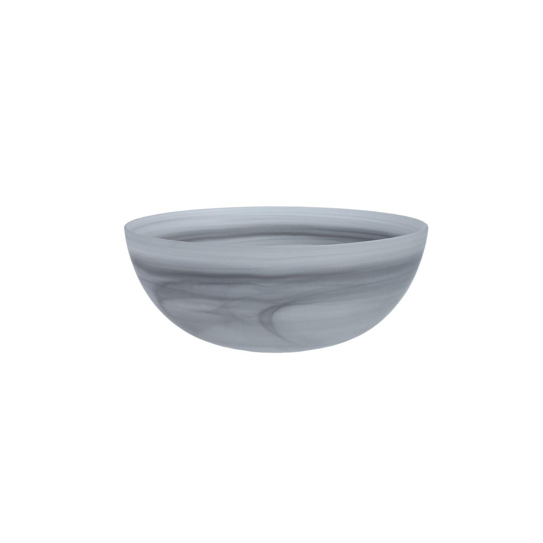 D&V La Jolla Grey Glass Large Salad Bowl