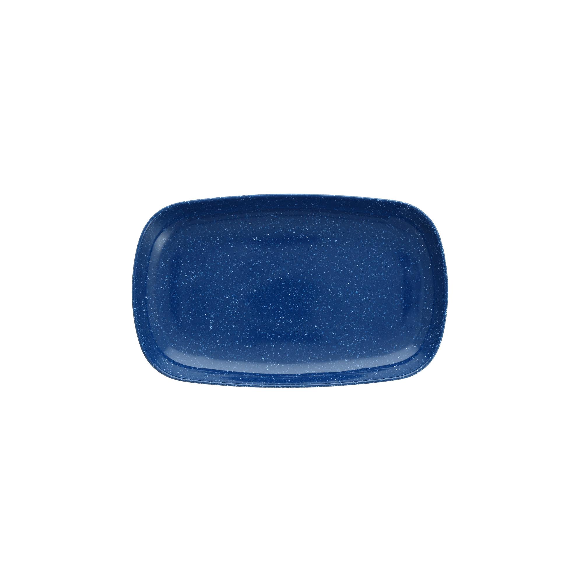 Fortessa Camp Blue Melamine Rectangular Coupe Platter, Set of 6