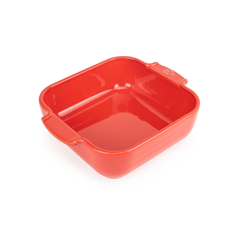 Peugeot Appolia Red Ceramic 1.2 Quart Square Baking Dish